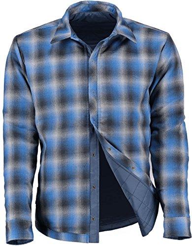 Icebreaker Merino Men's Reversible Helix Long Sleeve Shirt Jacket, Admiral/Fossil/Pelorus, (Reversible Ski Jacket)