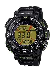 CASIO PRG2401BER - Reloj de caballero de cuarzo, correa de resina color negro