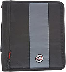 Case-it 2-Inch Ring Zipper Binder, Black, D-251-BLK