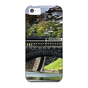 Quality Mialisabblake Case Cover With Bridge At A Japanese Castle Nice Appearance Compatible With Iphone 5c