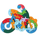 DOUYYE 26 Pcs Wooden Letters and Numbers Jigsaw Puzzles,Interactive Educational Children Learning...