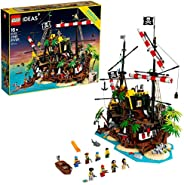 LEGO Ideas Pirates of Barracuda Bay 21322 Building Kit, Cool Pirate Shipwreck Model with Pirate Action Figures