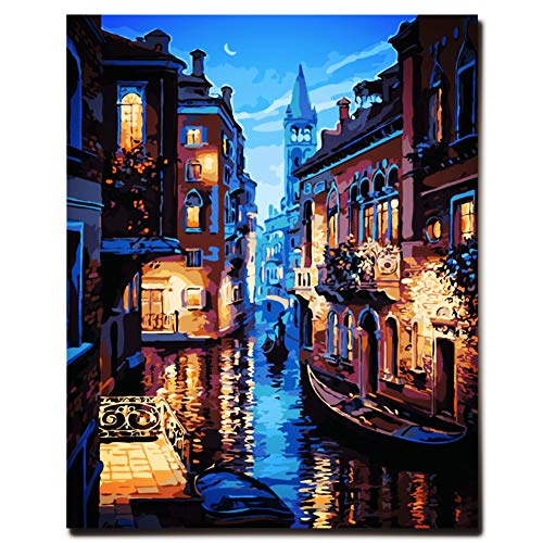 New Arrival DIY Oil Painting by Numbers Kit Theme PBN Kit for Adults Girls Kids White Christmas Decor Decorations Gifts - 6127 (Without Frame)