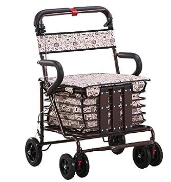 Plegable de cuatro rueda andador rollator con asiento ...