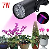 7 /12W LED Plant Grow Light 360 Degree Adjustable Indoor Plant Lights With Clip,Tuscom (7W)
