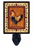 Night Light - Black Rooster - Country - Chicken
