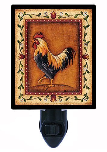 Night Light - Black Rooster - Country - (Rooster Light Fixtures)
