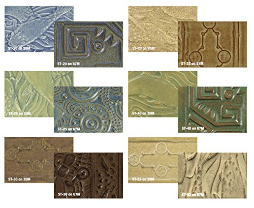 amaco-stone-textured-glaze-classroom-pack-1-pt-assorted-colors-pack-of-6