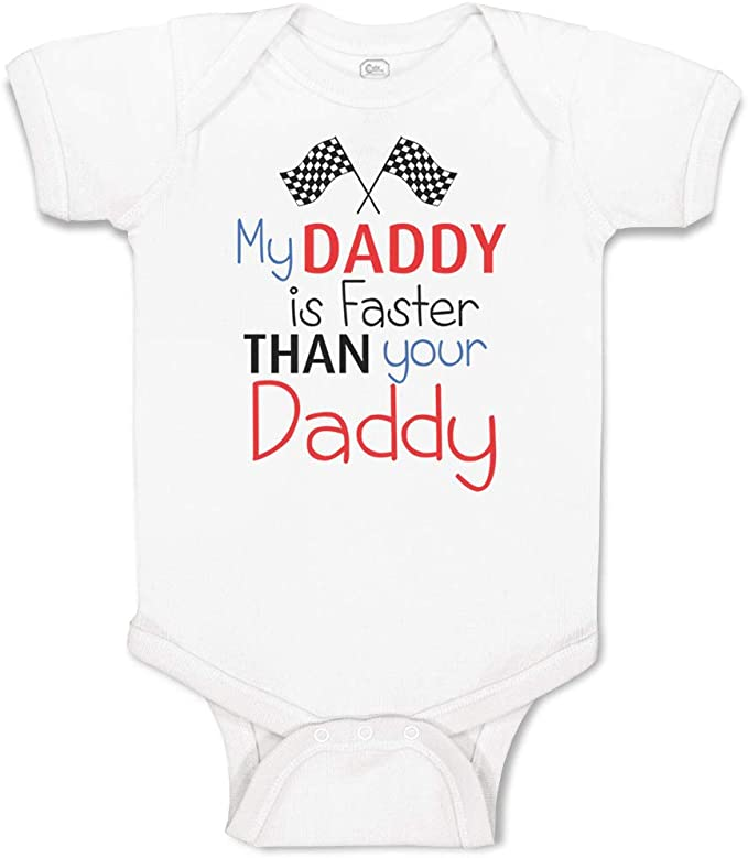 Nascar baby bodysuit Dirt track Drag Racing Daddy/'s Pit Crew  ~Racing bodysuit Father/'s Day~ Gifts for dads