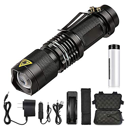 Super bright LED Flashlight Zoom L2 Led lamp bead Torch 5 mode 8000 Lumen camping lamp waterproof Use 18650 Rechargeable battery,Package D,Russian Federation,L2-LED ()