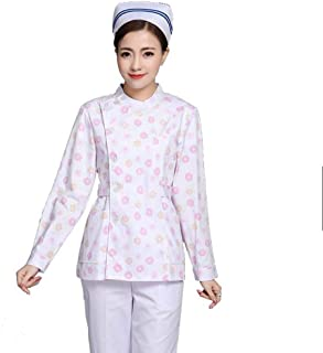 QZHE Abbigliamento medico Il Lato Lungo del Manicotto delle Donne Che Apre L'Assistenza Medica di Cura del Medico Infermiera del Medico di Infermiera Copre l'Abbigliamento di Cura