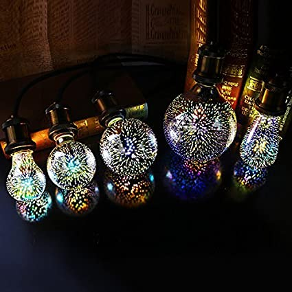 X Data 3D Star Led A60 E27 Voltage:110-230V AC Retro Filament / 4w Edison Bulb Light Valentines Day Holiday Decoration Bar Glass LED Lamp Lamparas ...
