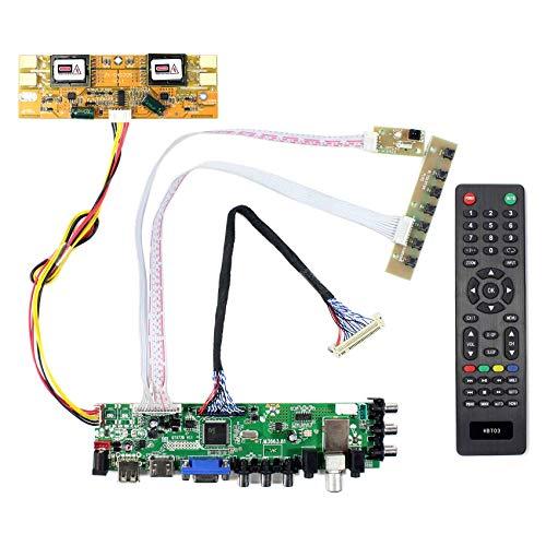 VSDISPLAY HDMI VGA AV USB ATV DTV LCD Controller Board Work for 19inch 1440x900 4 CCFL Backlight 30pin LVDS LCD,Such as LTM190M2-L01/L02/L31 /L33 HT190WGL-600 M190MWW3-R0 M190PW01 V0