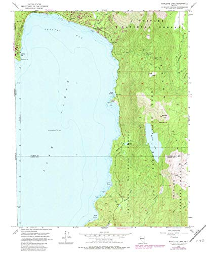 YellowMaps Marlette Lake NV topo map, 1:24000 Scale, 7.5 X 7.5 Minute, Historical, 1955, Updated 1983, 26.9 x 22 in - Tyvek