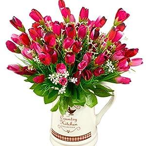 Polytree 1 Bouquet 15 Heads Artificial Tulip Flowers Wedding Fake Flower Home Decor 92