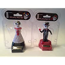 Fun and Cute Toys Halloween Solar Dancing Skeleton Groom and Bride Solar Powered Dancing Figure for Halloween or Over the Hill