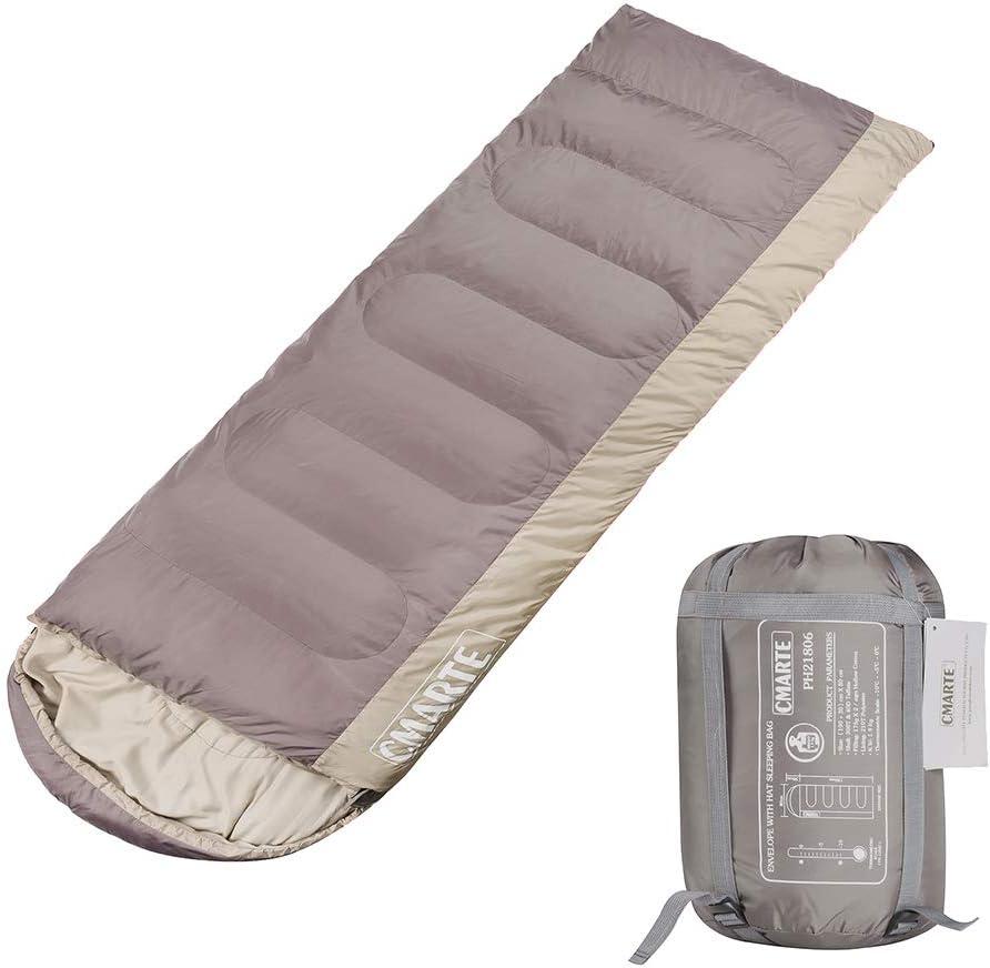 cmarte Sleeping Bag, Backpacking Cotton Envelope Lightweight Portable Outdoor Hiking Camping Sleeping Bag
