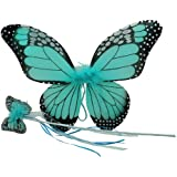 Monarch Butterfly Wing & Wand Set (More Colors...) Select Color: Turquoise