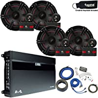 MB Quart Speaker package - ZA2-1600.4 Amp, Two Pairs of XC1-216 6.5 Components & Wire Kit