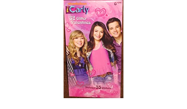 Amazon iCarly 32 Glitter Valentines Cards w 35 Stickers Toys – Icarly Valentine Cards