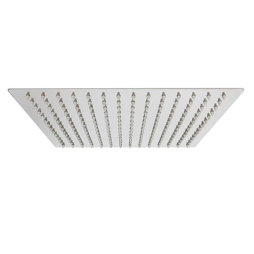TANBURO Soffione doccia/Soffione cromato Acciaio inossidabile in acciaio inox 304 in acciaio inox superiore Disegno 12 pollici piazza