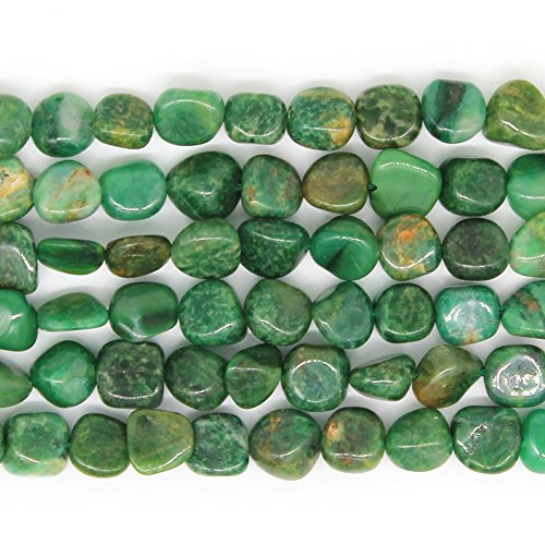 JARTC Natural Irregular Shape Stone Beads 6-8mm African Jade Gemstone Energy Cured for Jewelry Making Necklaces
