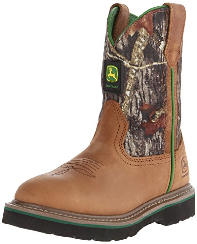 John Deere Johnny Popper Kid's Camo Leather Boots 4.5 M