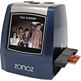 zonoz 22MP All-In-1 Film & Slide Converter Scanner w/ Speed-Load Adapters for 35mm, 126, 110 Negative & Slides, Super 8 Films - Includes Worldwide Voltage 110V/240V AC Adapter (FS-THREE)