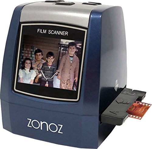 zonoz 22MP All-In-1 Film & Slide Converter Scanner w/ Speed-Load Adapters for 35mm, 126, 110 Negative & Slides, Super 8 Films – Includes Worldwide Voltage 110V/240V AC Adapter (FS-THREE)