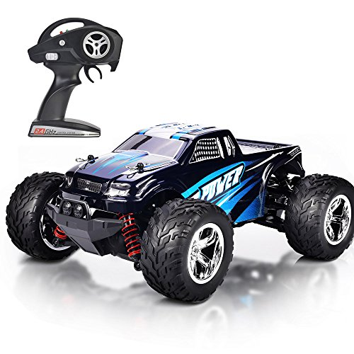 MaxTronic RC Car, 45km/h High Speed 4WD Remote Control Car for Kids, 2.4GHz Radio Controlled Off Road 1:20 RC Cars Monster Truck 1500mAh Lithium Battery (Blue)