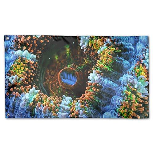YUANSHAN Home Garden Flag Coral Art Polyester Flag Indoor/Ou