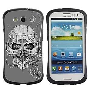 Suave TPU GEL Carcasa Funda Silicona Blando Estuche Caso de protección (para) Samsung Galaxy S3 I9300 / CECELL Phone case / / Robot Microphone Music Sci Fi Skull /