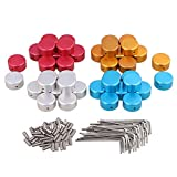 Yibuy Golden Aluminum Alloy Guitar Effect Protection Cap for Guitar Pedal Box Foot Metal Four Color Pack of 40