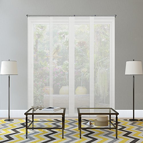 Chicology Adjustable Sliding Panels / Cut to Length, Curtain Drape Vertical Blind, Solar, Block Out UV Rays - Cloud White by CHICOLOGY