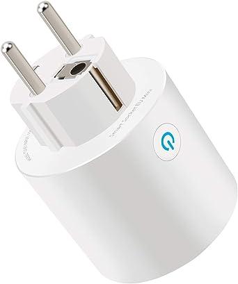 Lot de 1 WiFi Intelligente Prise Aucun Hub requis MOCRUX Prise Intelligente Connect/ée Prise Smart Plug Compatible avec Android iOS  Alexa Google Home IFTTT Smart Prise de courant