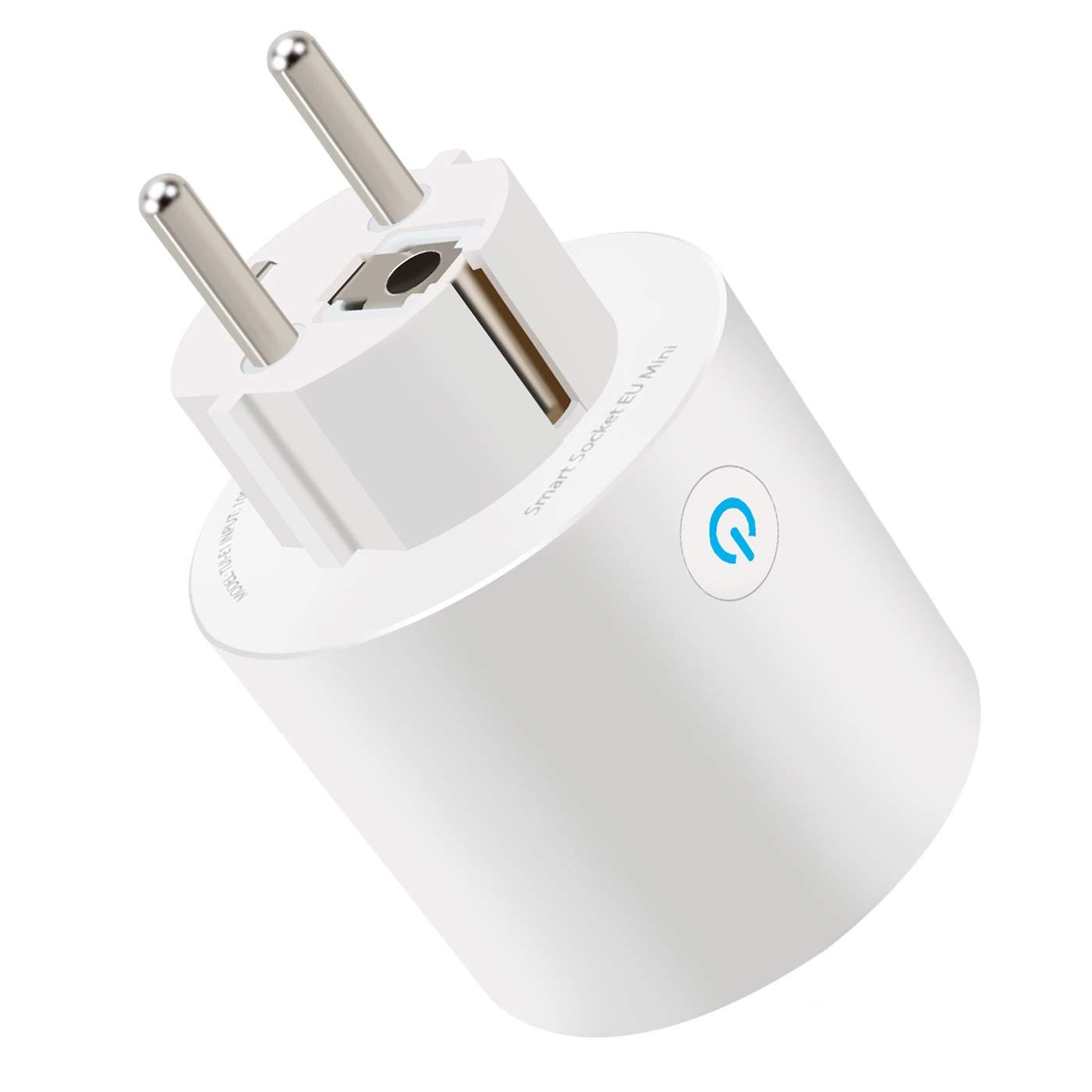 Intelligente WLAN Steckdose Smart Wifi Steckdose Stecker mit einer Fernbedienung Steuerbar Plug, Kompatibel mit  Alexa Google Home, Funktioniert mit IOS und Android BOMCHIN