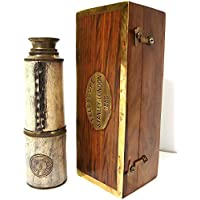 Brass Nautical Antique Brass Spyglass Replica in Gift Box