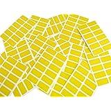 200étiquettes, Rectangle 25x 12mm, jaune, Code couleur stickers, autocollants, étiquettes autocollantes colorées