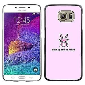 EJOY---Cubierta de la caja de protección la piel dura para el / Samsung Galaxy S6 / --Conejito rosado lindo divertido