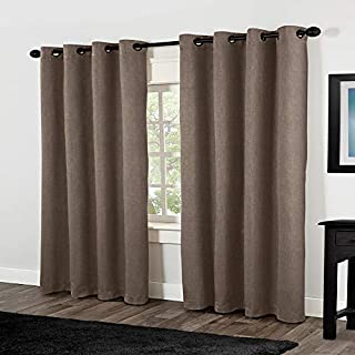 Exclusive Home Curtains Rita Linen Grommet Top Window Curtain Panel Pair, Café, 54x84 (B00G24TAJA) | Amazon price tracker / tracking, Amazon price history charts, Amazon price watches, Amazon price drop alerts