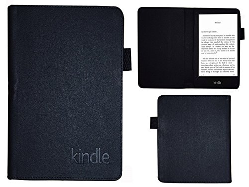 Colorcase Tablet Flip Cover Case for Kindle Paperwhite New 6   Black