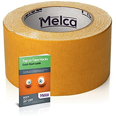 Melca Double Sided Tape, 2.5 Inch Double Stick Tape (10 Yards) from Melca