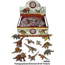Emorefun Assorted Dinosaur Toy Figures Highly Detailed Dinosaur Toys - 12 Pieces