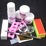 Best Acrylic Nail Powders - Baisidai Nail Art DIY Nail Liquid Powder Buffer Review