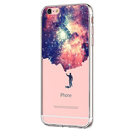 Giyer iPhone 6S 6 Case Clear TPU Transparent Bumper Case Creative Series Silicone Cover for Apple iPhone 6 6S (Starry Sky)
