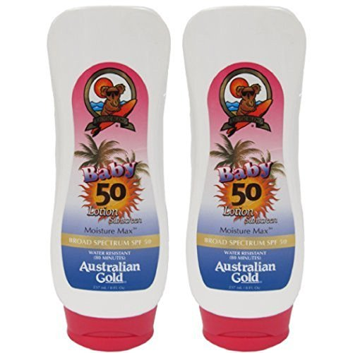 2 Pack SPF 50 Baby Sunscreen Lotion by Australian Gold