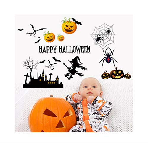 Zfwsbhd Halloween Can Remove The Wall of The Third Generation Background of Children Bedroom Wall Decoration -