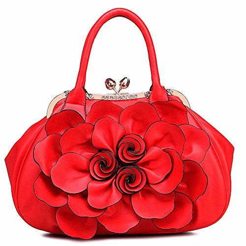Bolso Bag CCZUIML Bandolera púrpura rojo Crossbody r5rqwBd1x