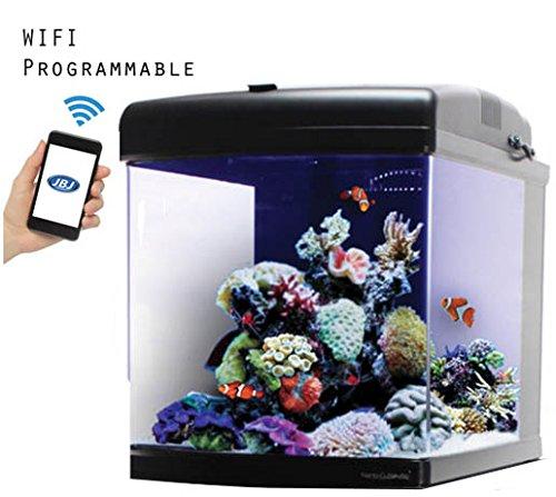 JBJ 28 Gallon Nano Cube WiFi LED Aquarium with (Nano Reef Chiller)