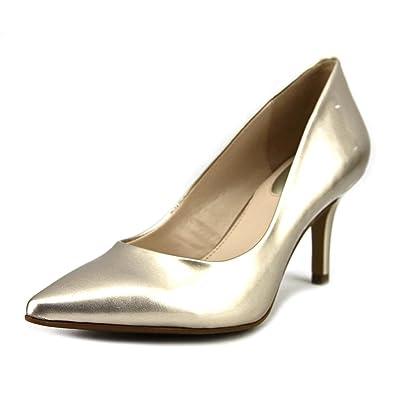 Alfani Womens Jeules Pointed Toe Classic Pumps, Platino, Size 5.0